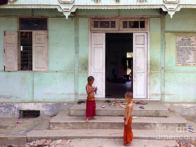 Photograph - Monastery For Orphans Near Shwenandaw Kyaung Mandalay Burma by Ralph A  Ledergerber-Photography