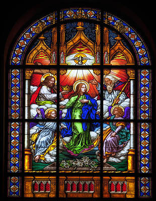 Glass Art Photograph - Monastery Stained Glass by Mountain Dreams