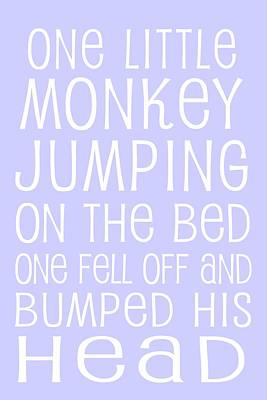 Digital Art - Monkey Jumping On The Bed by Jaime Friedman