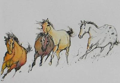 Painting - Mono Print 2 by Elizabeth Parashis