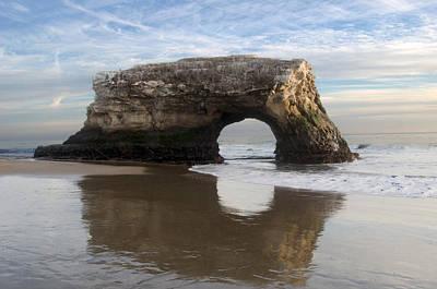 Monolith Natural Bridges State Beach Art Print