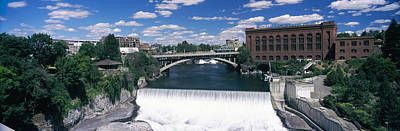 Monroe Street Bridge Across Spokane Art Print by Panoramic Images
