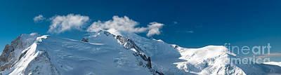 Mont Blanc Massiv Art Print by Juergen Klust