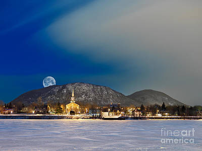 Photograph - Mont Saint Hilaire Quebec Winter by Laurent Lucuix