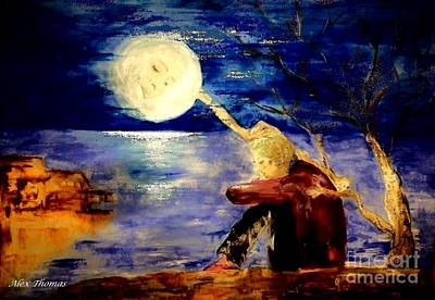 Consolation Painting - Moon Consolation  by Alex Thomas
