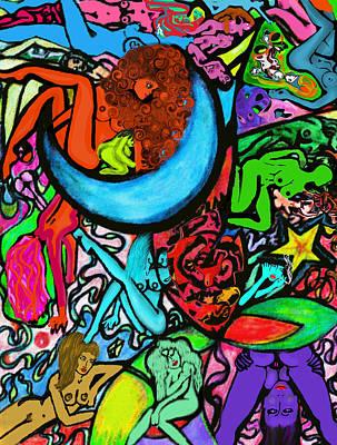 Moon Over Myamihot Art Print by Tiffany Selig