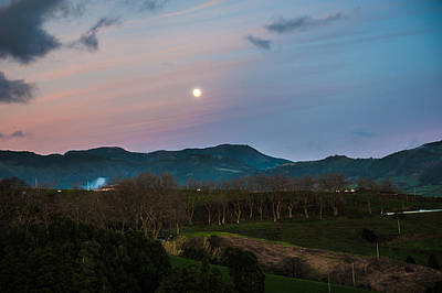 Photograph - Moon Over The Hills Of Povoacao by Joseph Amaral