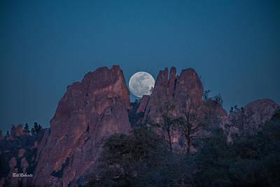 Moon Rise Pinnacles Print by Bill Roberts