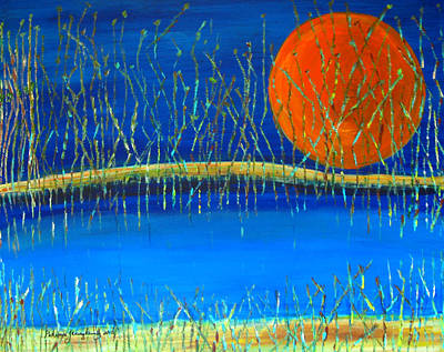 Art Print featuring the painting Moon Shadow by Patricia Januszkiewicz