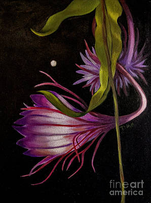 Painting - Moonflower 2 by Dian Paura-Chellis