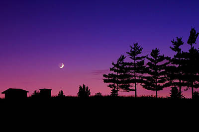 Waxing Photograph - Moonset by Cale Best