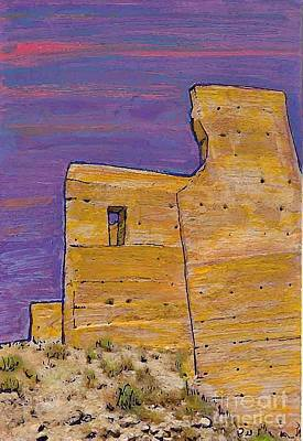 Archaeological Mixed Media - Moorish Fort In Jumilla by Sarah Loft