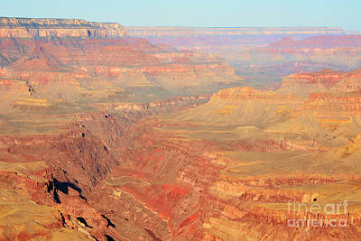 Morning Colors Of The Grand Canyon Inner Gorge Art Print