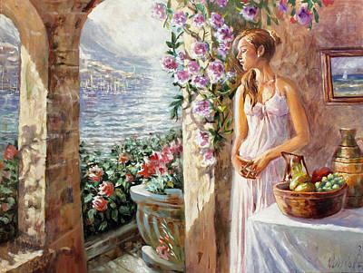 Verandah Painting - Morning by Dmitri Kulikov