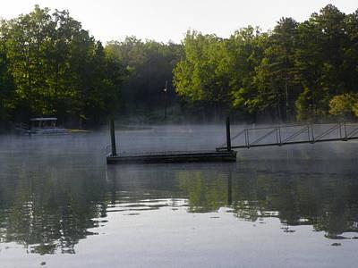 Morning Fog On The Lake 2 Art Print by Lisa Wooten
