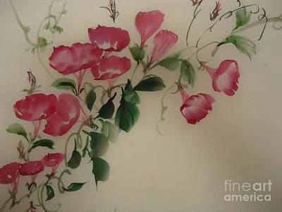 Art Print featuring the painting Morning Glory by Dongling Sun
