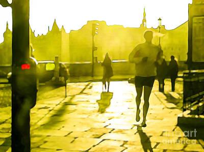 Jog Digital Art - Morning Jog by Christina Rahm