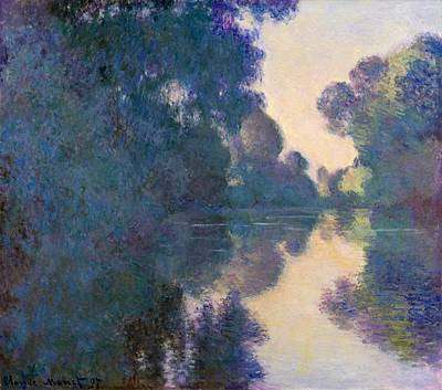 Morning On The Seine Art Print by Claude Monet