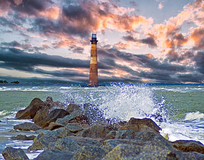 Morris Island Lighthouse Art Print
