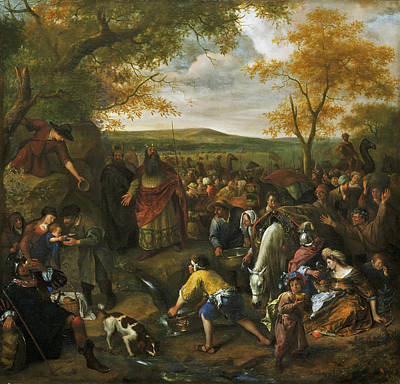 Painting - Moses Striking The Rock by Jan Steen