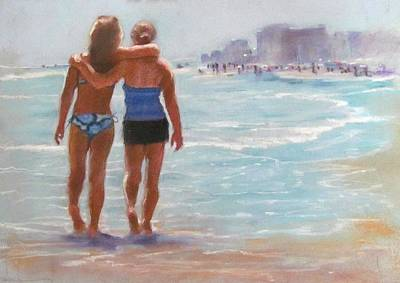 Painting - Mother And Daughter by Janet McGrath