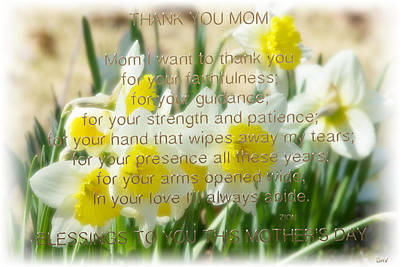 Photograph - Mothers Day Card by Debra     Vatalaro
