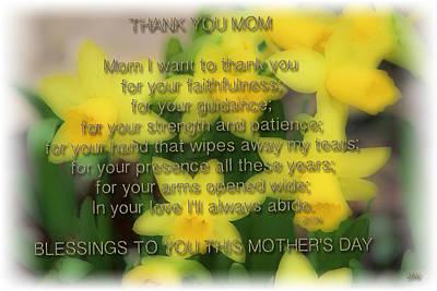 Photograph - Mother's Day Poem by Debra     Vatalaro