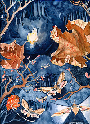 Moths To A Flame Art Print by Katherine Miller