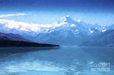 Impressionism Photos - Mount Cook with Lake Pukaki by Sheila Smart Fine Art Photography