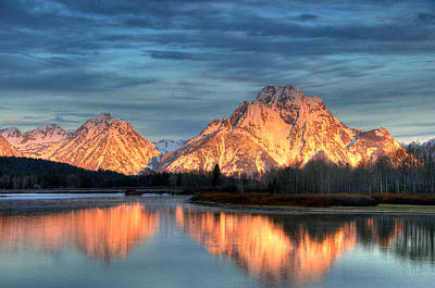 Mount Moran Art Print by Steve Stuller
