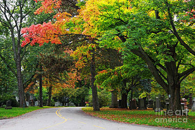Photograph - Mount Pleasant Cemetery by Charline Xia