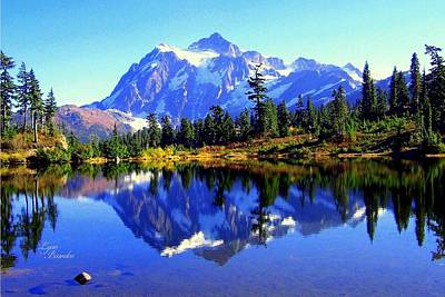 Photograph - Mount Shuksan And Picture Lake by Lynn Bawden