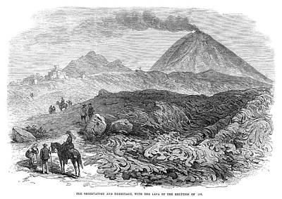 Hermitage Painting - Mount Vesuvius, 1872 by Granger