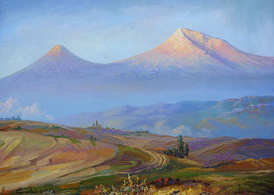 Painting - Mountain Ararat In The Early Morning by Meruzhan Khachatryan