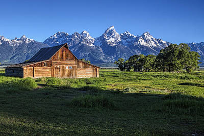 Teton Photograph - Mountain Barn by Andrew Soundarajan