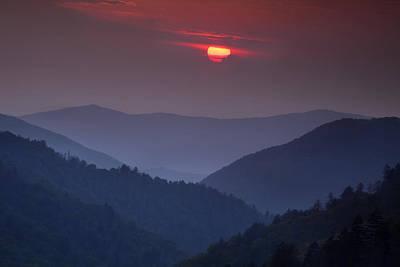 Morton Photograph - Mountain Sunset by Andrew Soundarajan