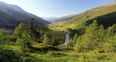 Graubunden Photograph - Mountain Valley by Michael Szoenyi