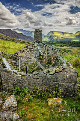 Dilapidated Photograph - Mountain View by Adrian Evans