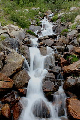 Photograph - Mountain Waterfall by Trent Mallett