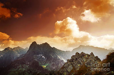 Photograph - Mountains Sunset Landscape by Michal Bednarek