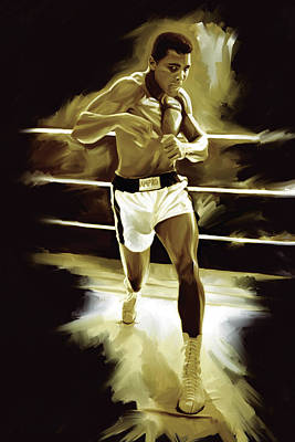 Muhammad Ali Boxing Artwork Print by Sheraz A
