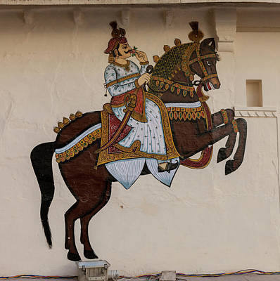 Mural Photograph - Mural City Palace Shiw Nivas Palace by Tom Norring