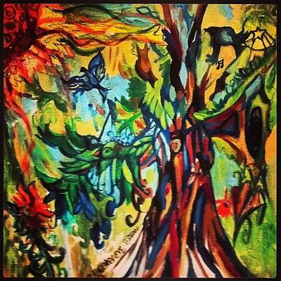 Music In Bird Of Tree Art Print