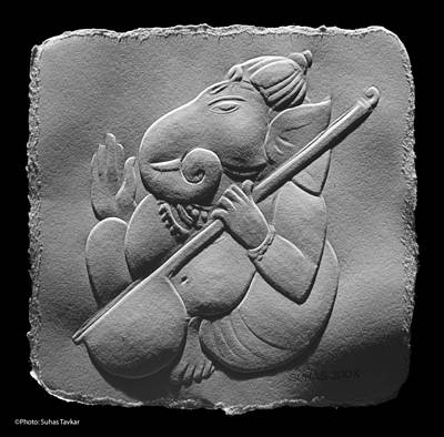 Musical Ganesha Art Print