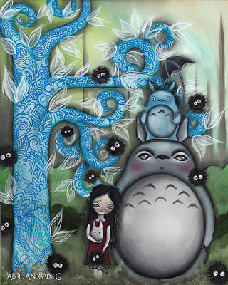Pop Surrealism Painting - My Friend by Abril Andrade Griffith