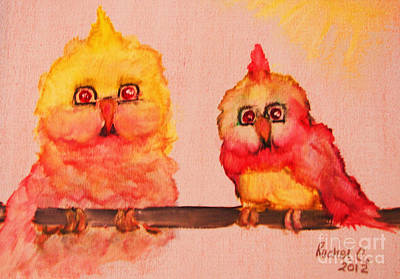 Painting - My Little Rays Of Sunshine by Rachel Carmichael
