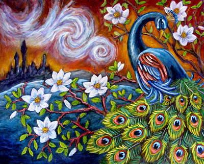 Painting - Mystic Peacock by Sebastian Pierre