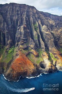 Photograph - Na Pali Ridges And Lava Tube by Kicka Witte