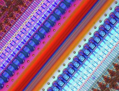 Microchip Photograph - Nanoprecision Inkjet Print Head by Alfred Pasieka
