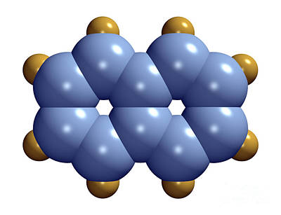 Fused Photograph - Naphthalene Molecule by Dr. Mark J. Winter